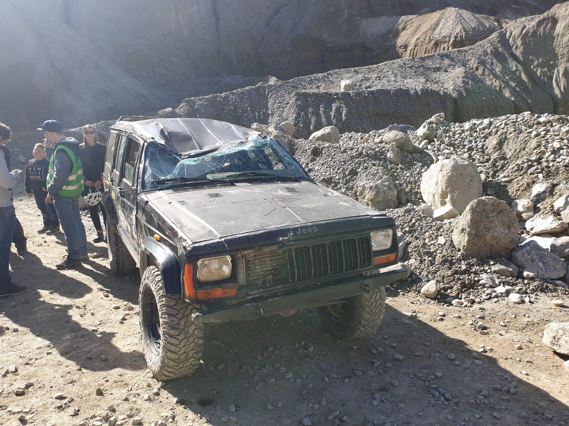 Freies Fahren im Kieswerk Calanda