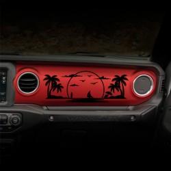 """Sticker """"Beach"""" für Dashboard Wrangler JL"""