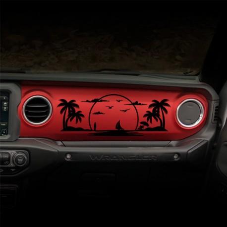 Sticker Quot Beach Quot F 252 R Dashboard Wrangler Jl Calonder Online