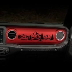 """Sticker """"Mountains"""" für Dashboard Wrangler JL"""