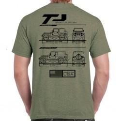 Wrangler TJ Blueprint T-Shirt