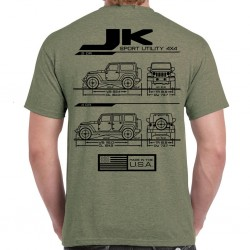 Wrangler JK / JKU Blueprint T-Shirt