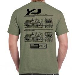 Wrangler YJ Blueprint T-Shirt