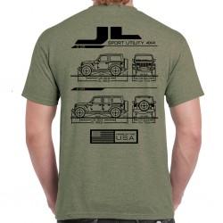 Wrangler JL / JLU Blueprint T-Shirt
