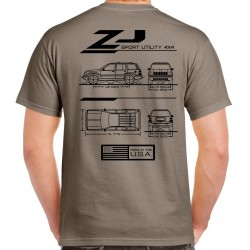 Grand Cherokee ZJ Blueprint T-Shirt