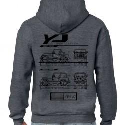 Wrangler YJ Blueprint Hoodie