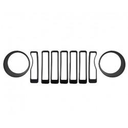 Kühlergrilleinlagen schwarz inkl. Headlight Covers