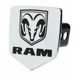 Hitch-Cover chrom mit RAM-Head Bullytruck