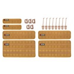 Organizer-Kit beige mit Klettverschluss & Molle System BuiltRightIndustries