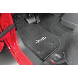 Fussmatten-Set vorne schwarz mit Jeep Logo Lloyd Mats