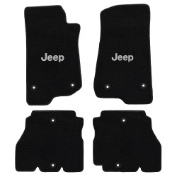 Fussmatten-Set vorne & hinten schwarz mit Jeep Logo Lloyd Mats