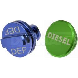 Aluminium Tankdeckel-Set Diesel und AdBlue Dorman