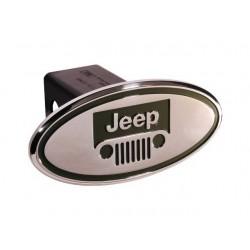 Hitch-Cover chrom  mit Jeep-Logo grün