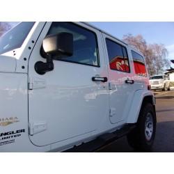 Türgriff Zierblenden lackierbar mit Jeep-Logo Wrangler 2-Door
