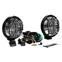 """Zusatzscheinwerfer KC-HiLites 6"""" inkl. A-Säulen Halterung Quadratec"""