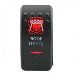 """Kippschalter """"Roof Lights"""" mit roter Beleuchtung"""