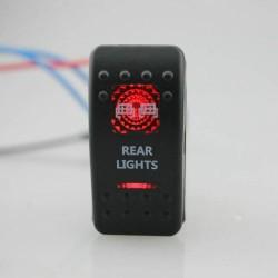 """Kippschalter """"Rear Lights"""" mit roter Beleuchtung"""