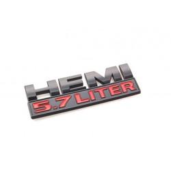 5.7 Liter HEMI Emblem mattschwarz
