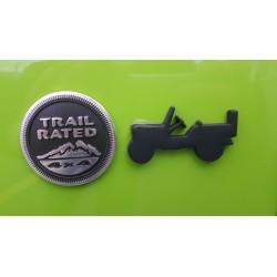 """Emblem """"Willy's-Jeep"""" mattschwarz"""