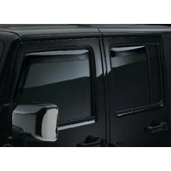 Windabweiser rauchglas für Seitenfenster vorne & hinten Weathertech