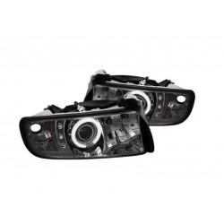 HALO-Scheinwerfer schwarz Spyder