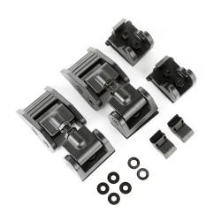 Motorhauben-Verschlüsse Aluminium in schwarz oder silber Ruggedridge