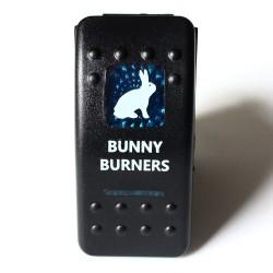 "Kippschalter ""Bunny Burners"" mit blauer Beleuchtung"