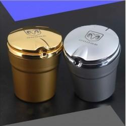 Aschenbecher für Getränkehalter mit Dodge-Logo in Silber oder Gold