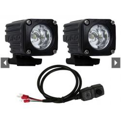 LED Zusatzscheinwerfer Set Rigid Ignite mit GoPro-Style Halterung