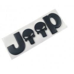 """Jeep Emblem """"Skull"""" schwarz"""