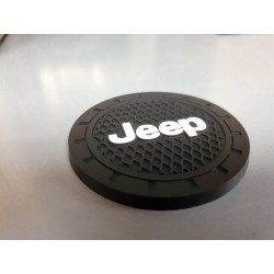 """Getränkehalter-Pads mit """"Jeep-Logo"""" klein"""