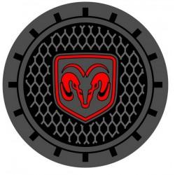 """Getränkehalter-Pads mit """"Dodge-Logo"""" klein"""