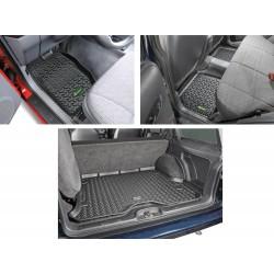 Gummiwannen-Set für komplettes Fahrzeug Quadratec
