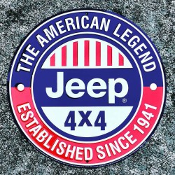 "Jeep-Sign ""The American Legend"" 12"""