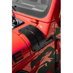 Hood-Protector Kit schwarz inkl. Zusatzscheinwerfer-Befestigung Rampage
