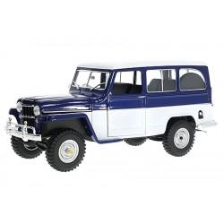 Modellauto Willys Station Wagon blau 1:18